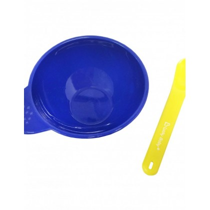 Lucky Baby Easy-Grip Bowl With Spoon - Blue