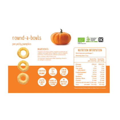 Little Bellies Round-a-bouts Pumpkin 12g