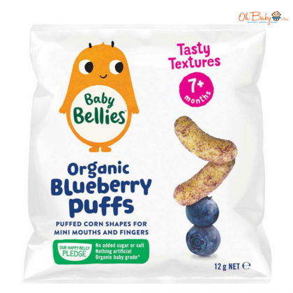 Little Bellies Baby Puffs Blueberry 12g
