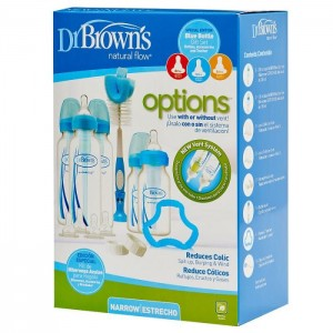 Dr Brown's Narrow Neck Options Newborn Gift Set (Blue)