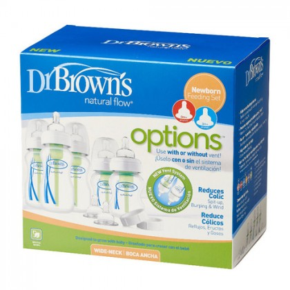 Dr Brown's Wide Neck Options Newborn Feeding Set