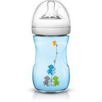 Avent Natural Bottle 260ml/9oz (Blue Monkey)