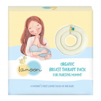 Lamoon Organic Breast Therapy Pack for Nursing Mommy