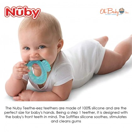 Nuby Comfort Silicone Fish Shape Teether with Case