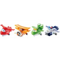 Super Wings Toy: 4 In 1 Mini Change 'Em Up! Pack Series One