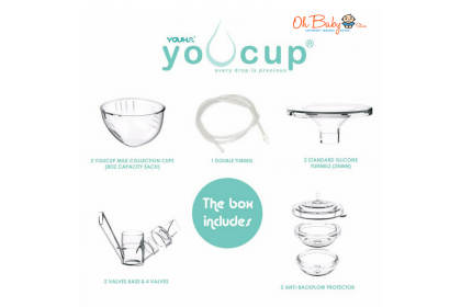 Youha Youcup Handsfree Milk Collection Cups [FREE Breast Milk Storage Bags 30's]