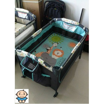 My Dear Baby Playpen with Side Slide Door 26014 (Animal A)
