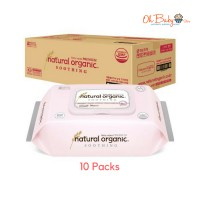 Natural Organic Baby Wipes Soothing Premium Cap 70's  x 10 Packs