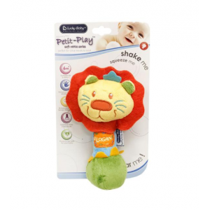 Lucky Baby Petit Play Soft Rattle Logan Lion