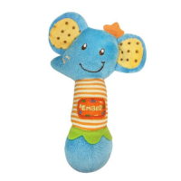Lucky Baby Petit Play Soft Rattle Ember Elephant