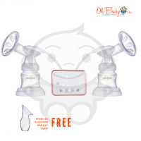 Halford Duo Rechargeable Electric Breast Pump [Free Manual Silicone Breastpump]