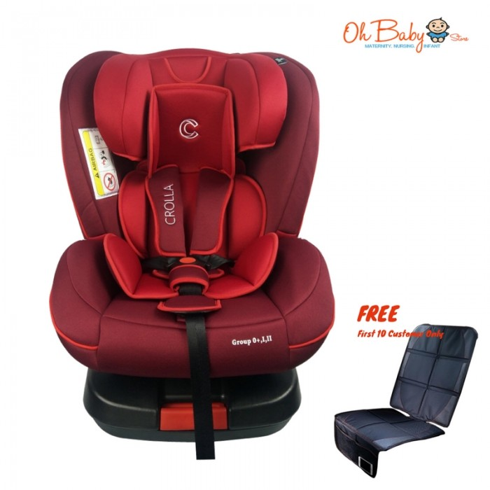 Crolla S+ Isofix Car Seat New Born   7 Years [FREE CAR SEAT PROTECTOR]