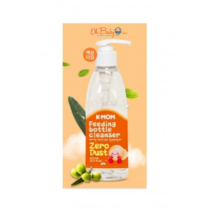 K Mom Zero-Dust Feeding Bottle Cleanser (Green Olive) 400ml