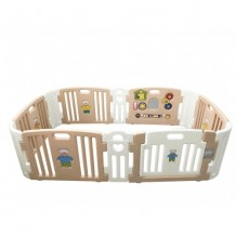 Haenim Baby Play Yard 6+6 Panel (Rose Gold)