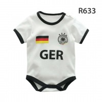 Holabebe Football Designed Rompers (Germany Team) White Rompers
