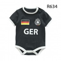 Holabebe Football Designed Rompers (Germany Team) Black Colour