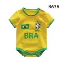 Holabebe Football Designed Rompers (Brazil Team)