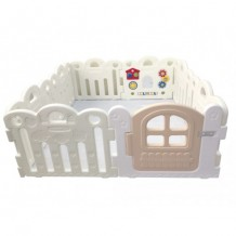Haenim  Baby Play Yard Petit 8 Panels White
