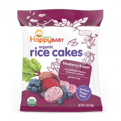 Happy Baby Rice Cakes Blueberry & Beet 40g