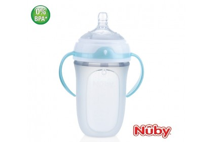 Nuby Comfort Silicone Bottle 8oz/250ml (0m+)