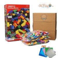 1000 Pcs Building Blocks Compatible With  Majority of Brand [FREE 1x Block Base]